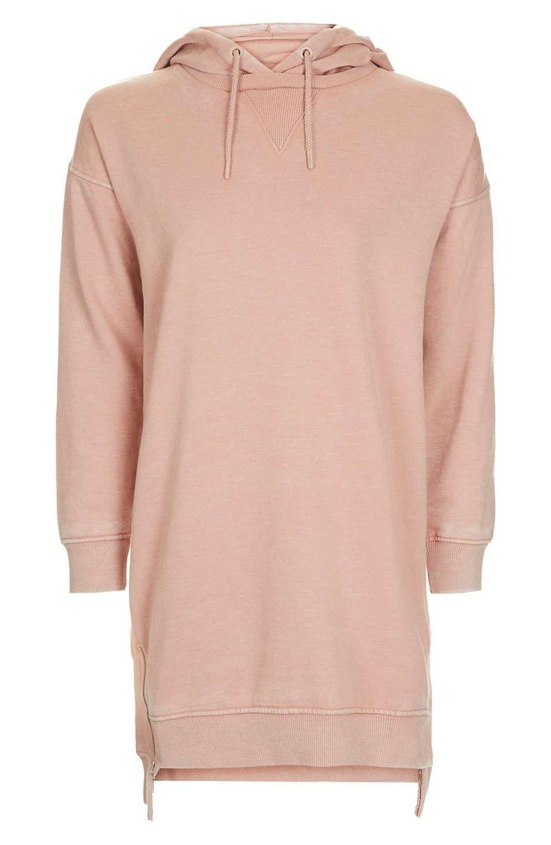 Alternate Image 4  - Topshop Hooded Sweatshirt Dress