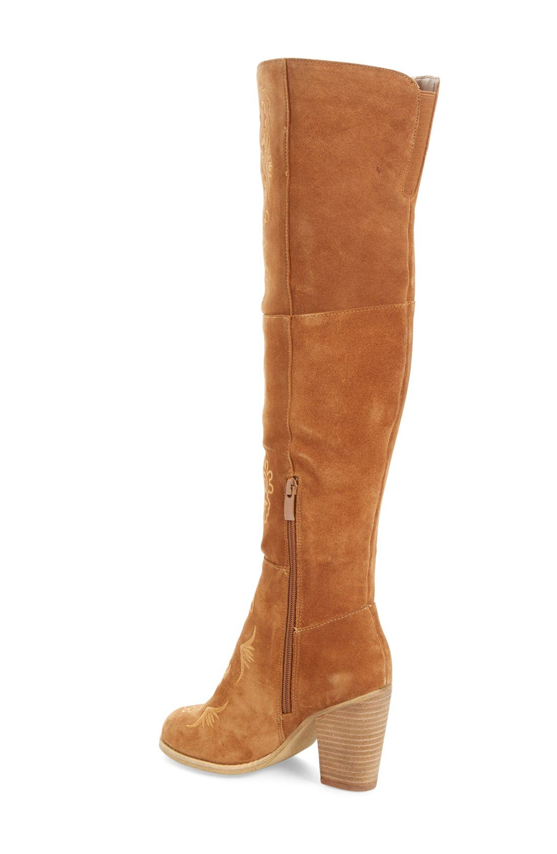 Alternate Image 2  - Sbicca Acapella Embroidered Over the Knee Boot (Women)