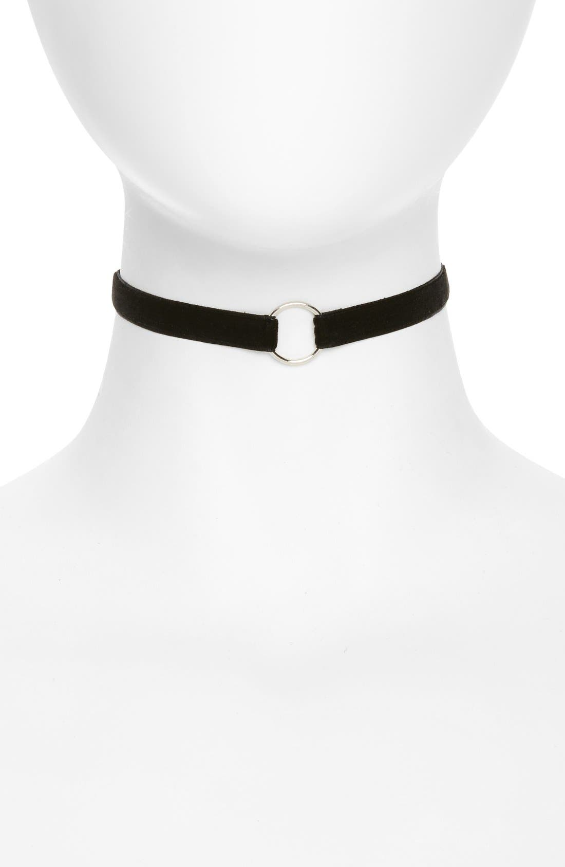 Alternate Image 1 Selected - Topshop Circle Velvet Choker