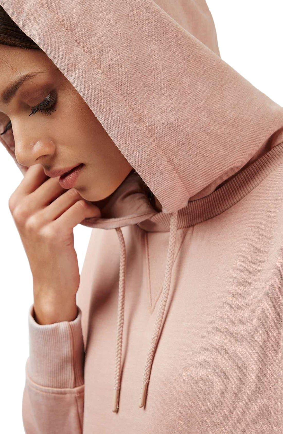 Alternate Image 5  - Topshop Hooded Sweatshirt Dress