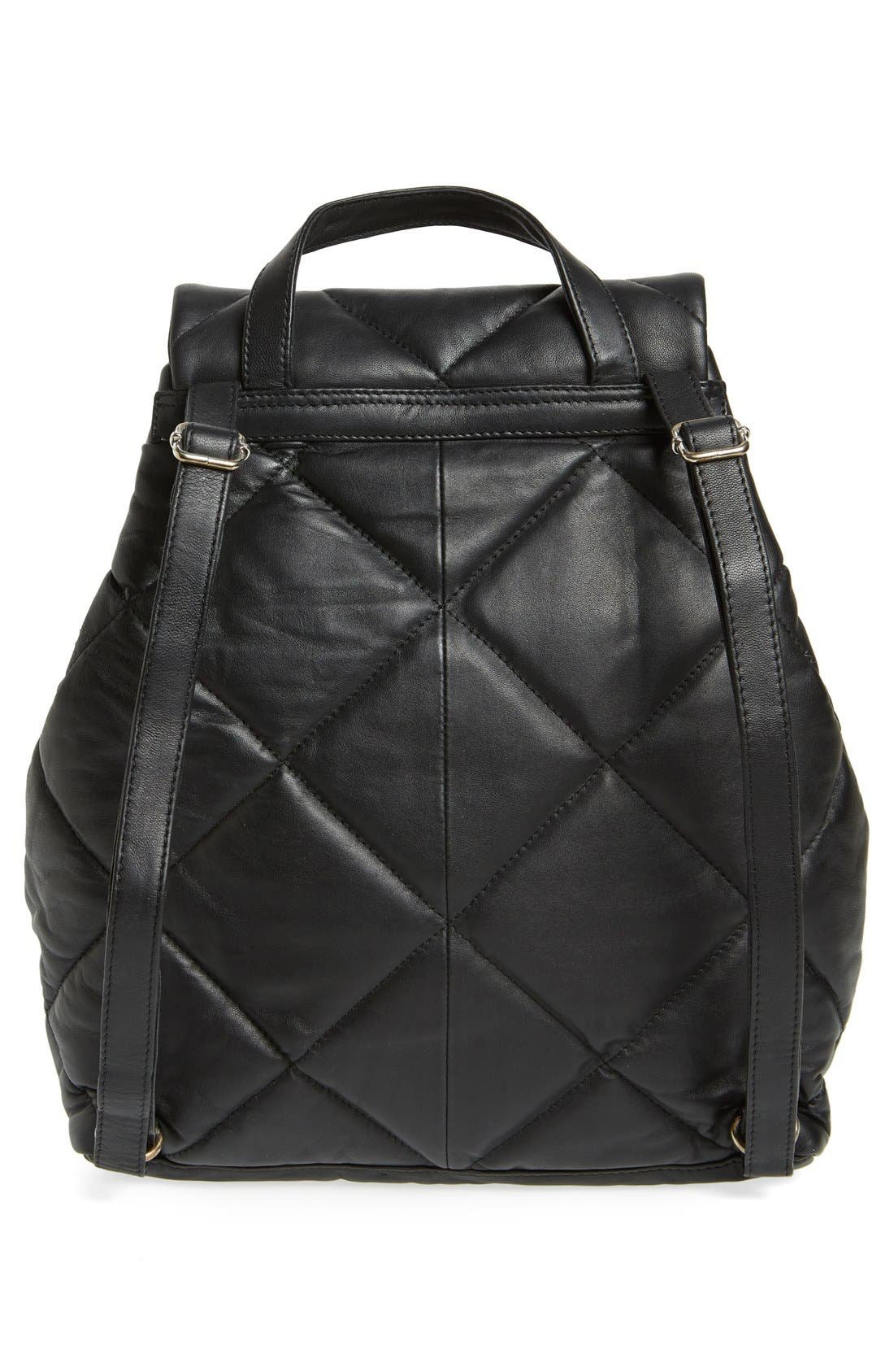 Alternate Image 2  - Topshop Bryan Puffer Quilted Leather Backpack