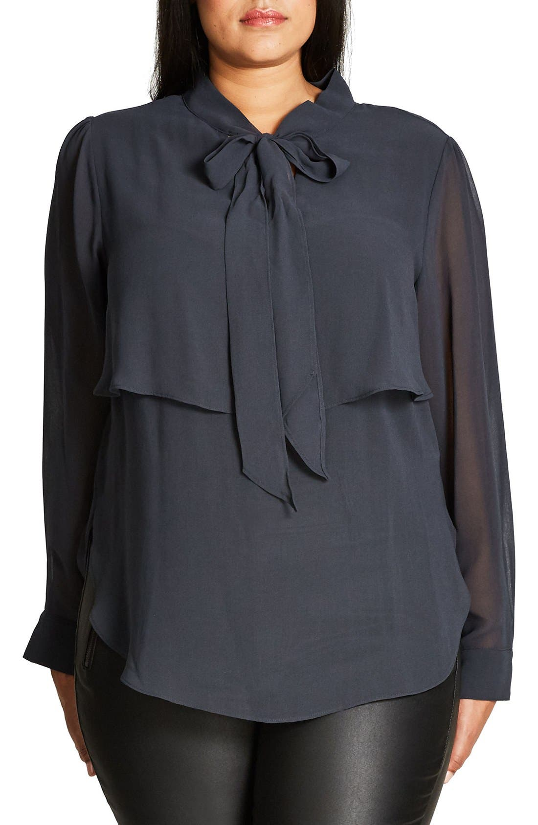 CITY CHIC Juliet Tie Neck Blouse