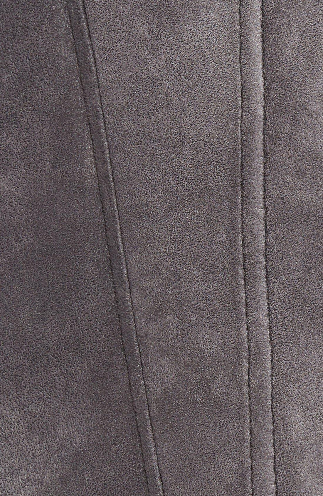 Alternate Image 5  - Tahari Faux Shearling Coat with Faux Fur Trim