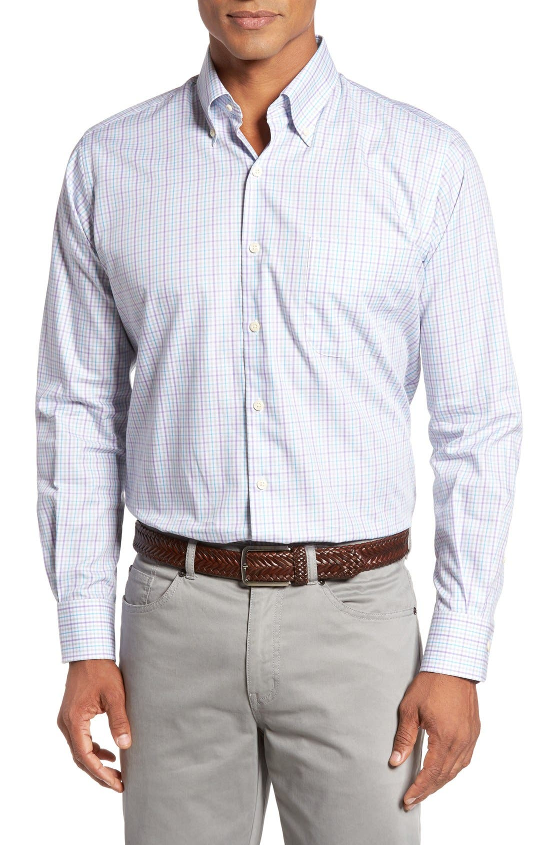 PETER MILLAR Regular Fit Yucatan Check Sport Shirt