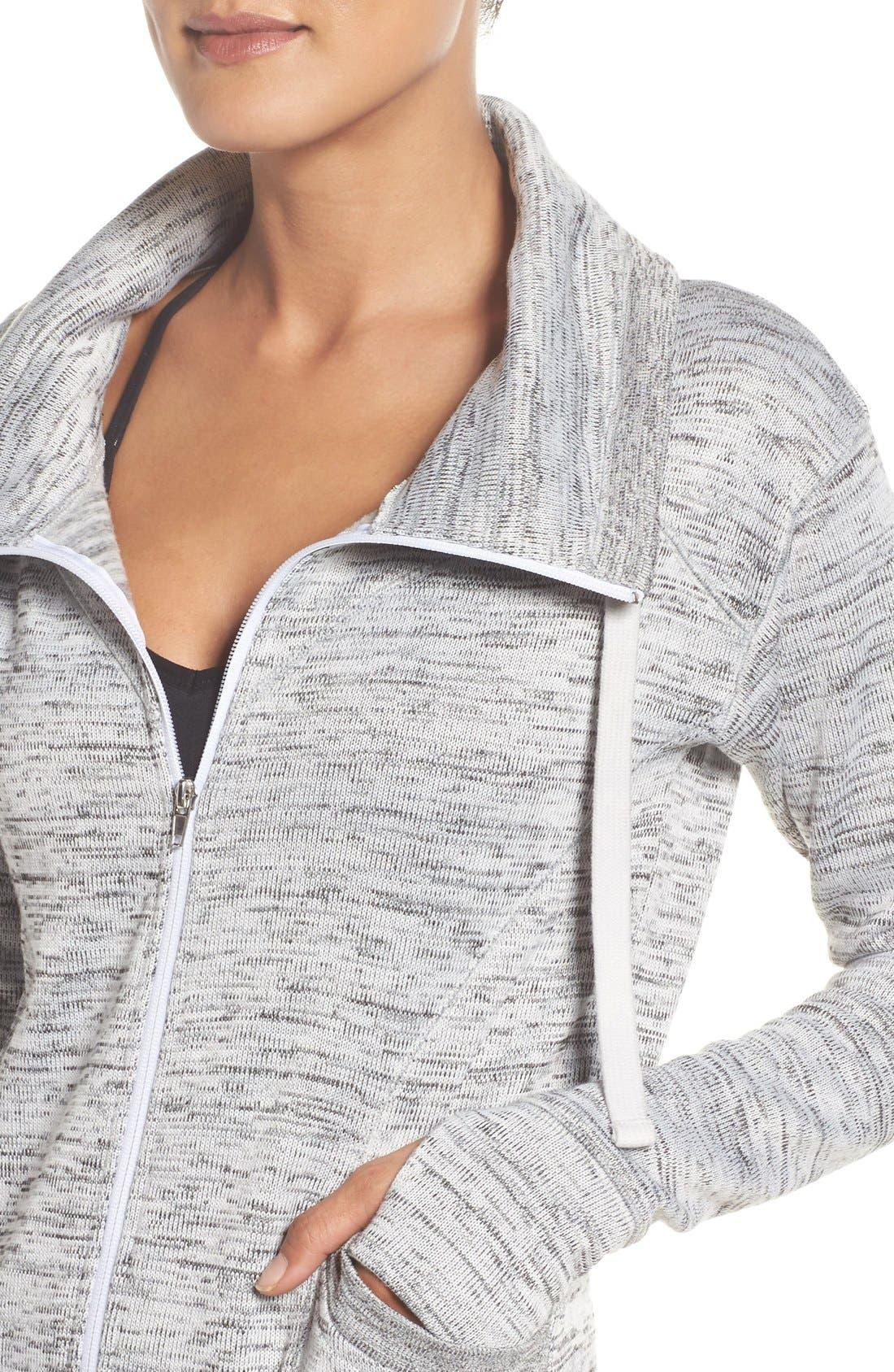 Alternate Image 4  - Zella Cozy to the Core Sweater Jacket