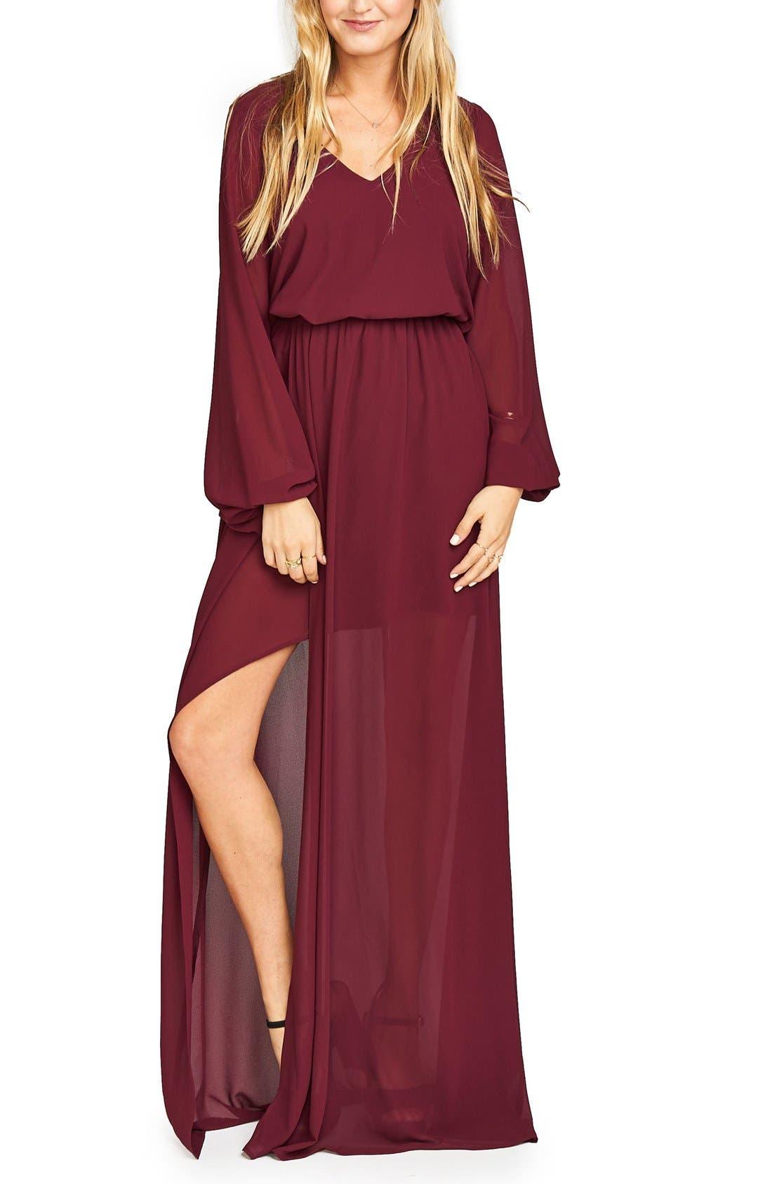 Show Me Your Mumu Jocelyn Blouson Gown