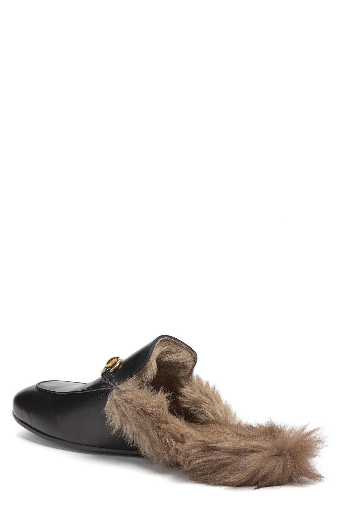 Alternate Image 2  - Gucci Princetown Genuine Shearling Slipper (Men)