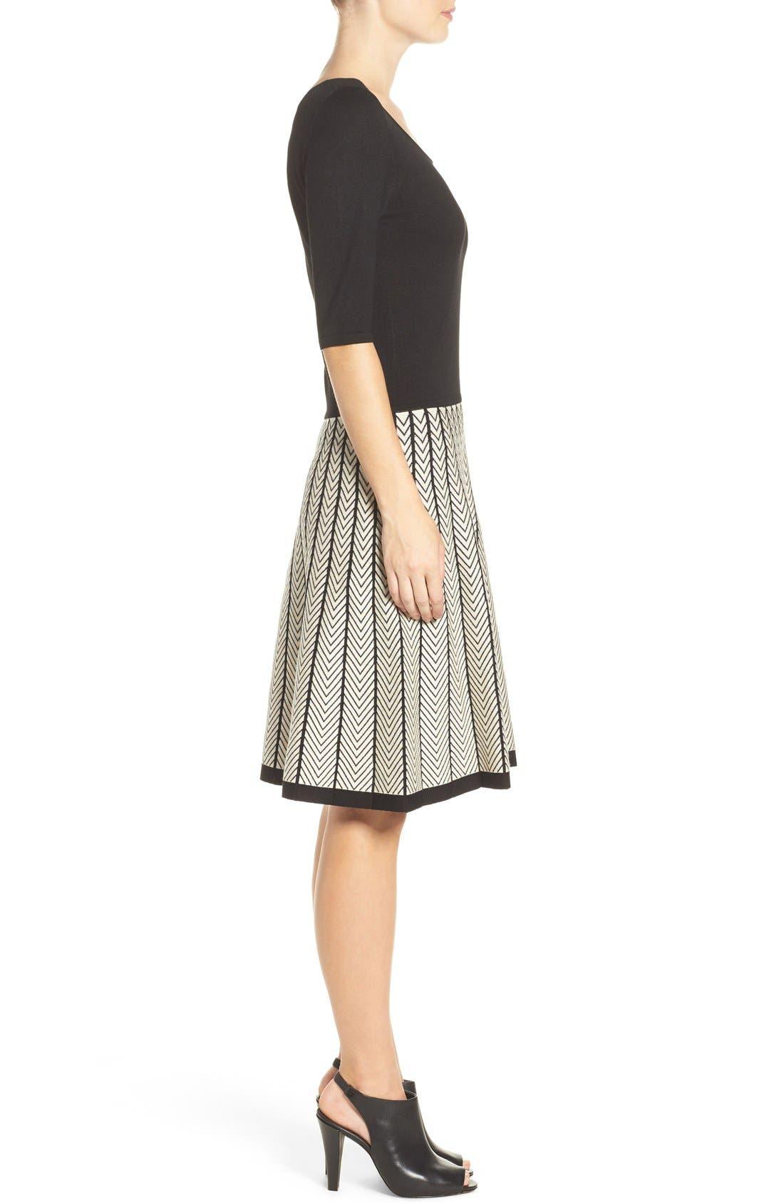Alternate Image 3  - Gabby Skye Fit & Flare Sweater Dress