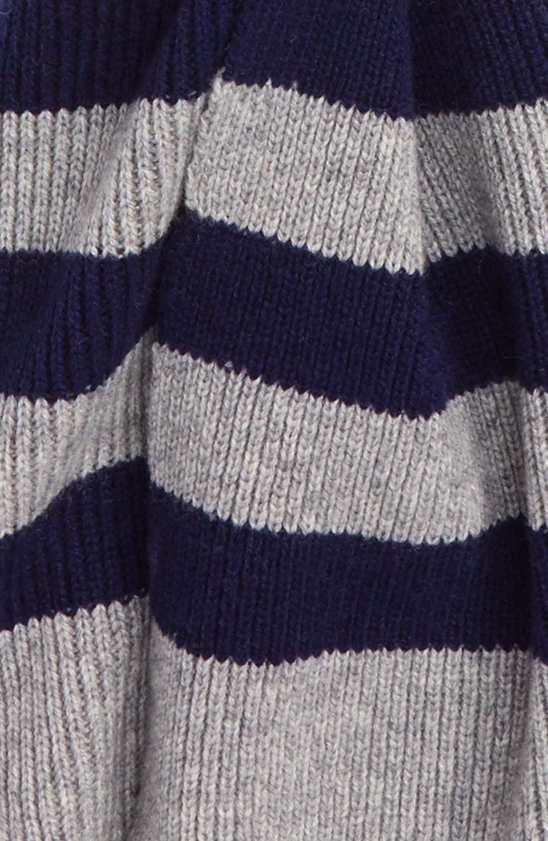 Alternate Image 3  - Polo Ralph Lauren Stripe Wool & Cashmere Scarf