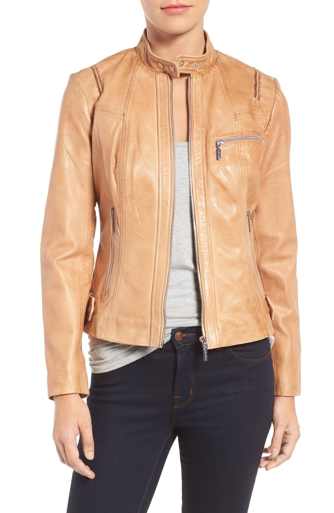 Bernardo Kirwin Leather Moto Jacket