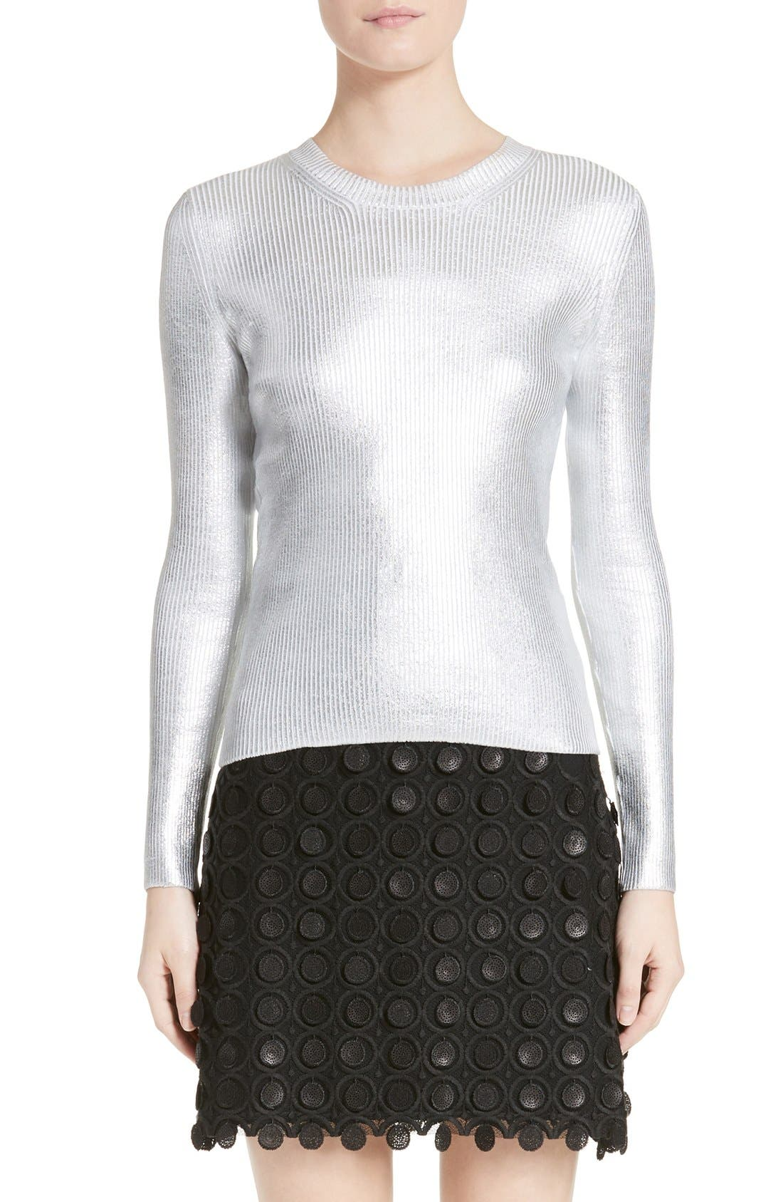 CARVEN Metallic Knit Sweater