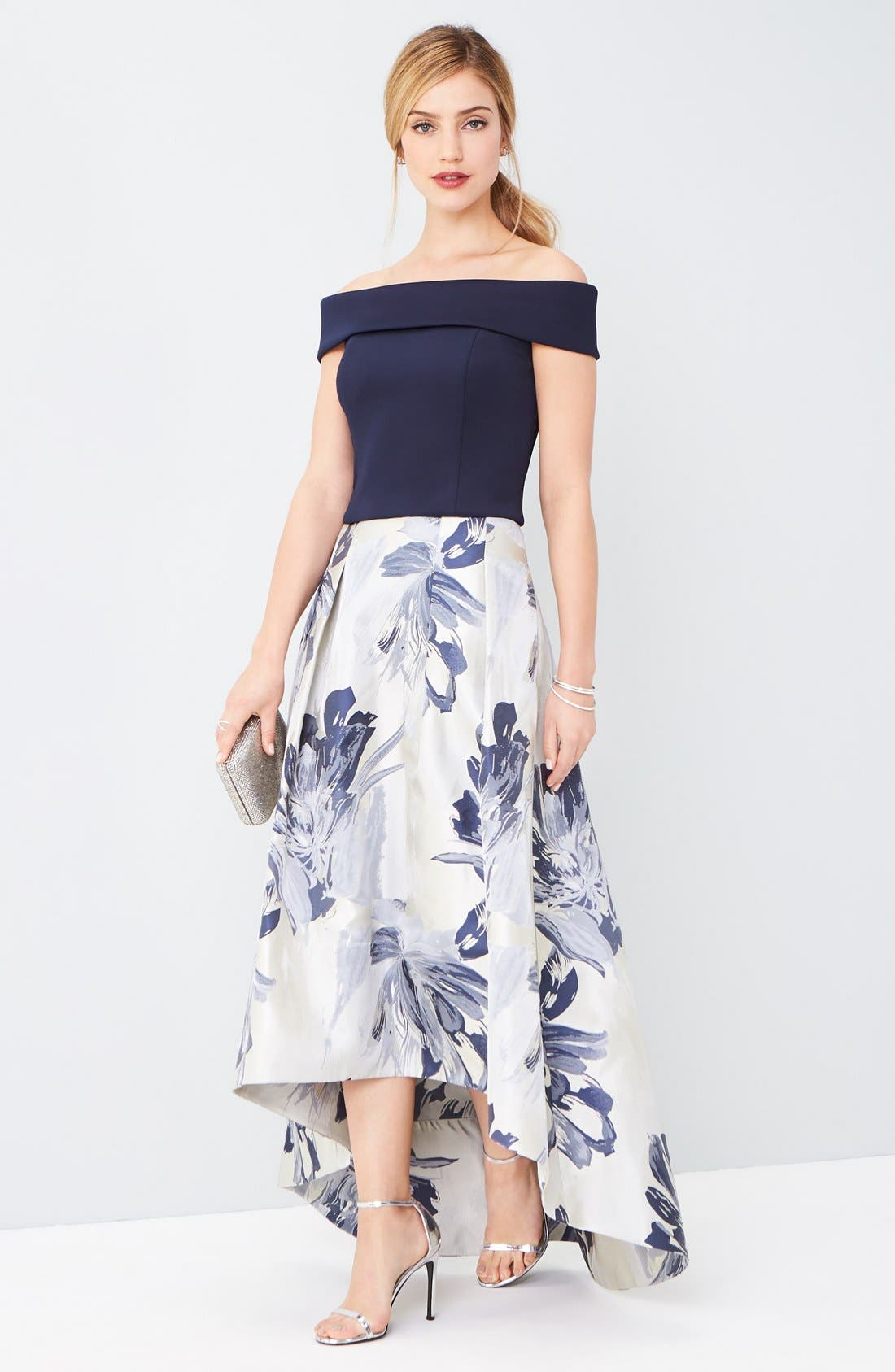 Alternate Image 8  - Eliza J High/Low Ball Skirt