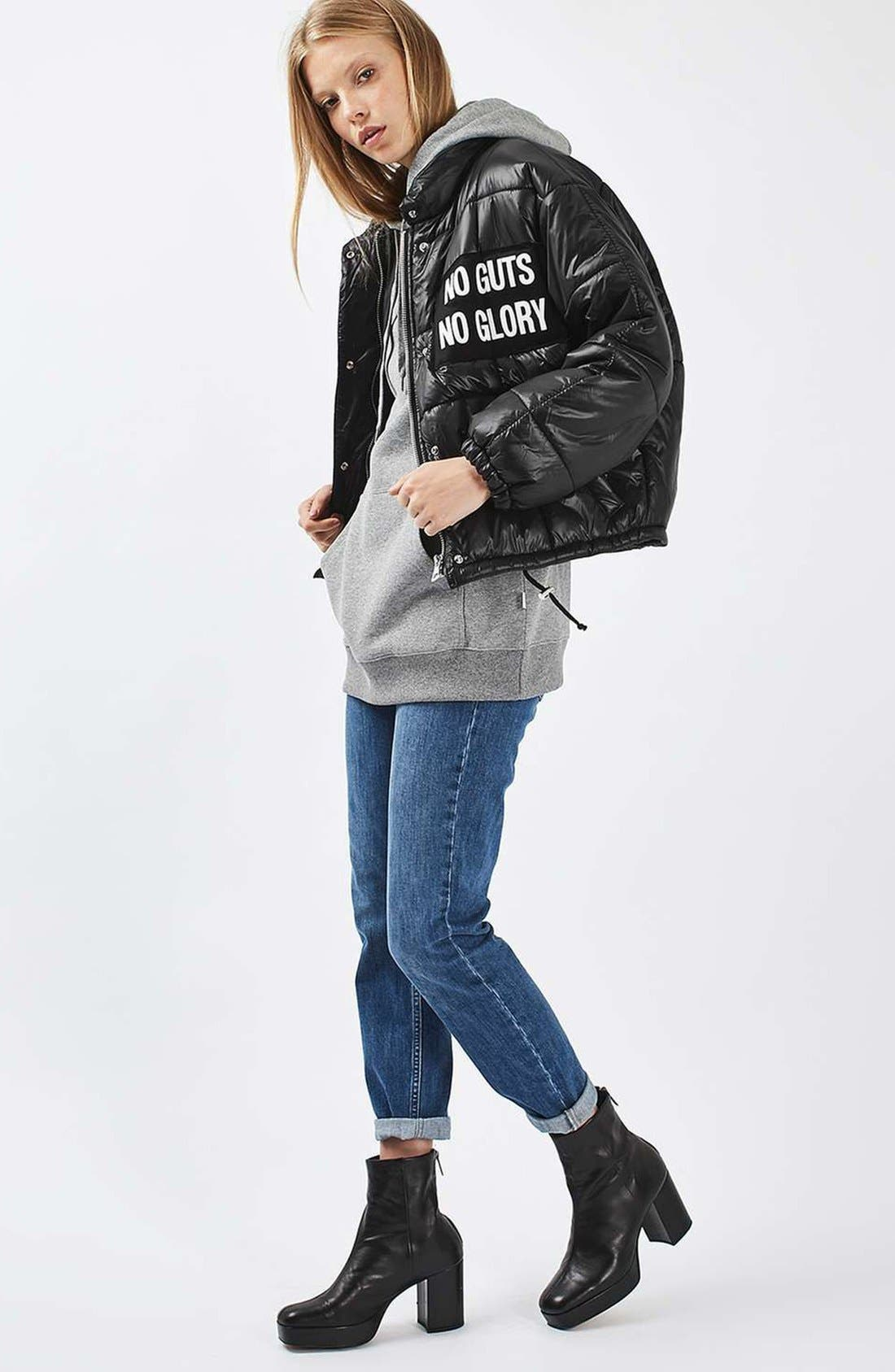 Alternate Image 2  - Topshop Nina Puffer Jacket