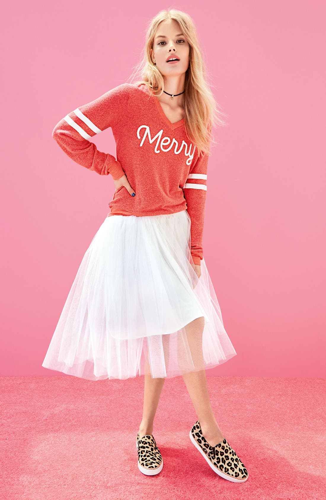 Alternate Image 2  - Wildfox Baggy Beach Jumper - Merry Pullover