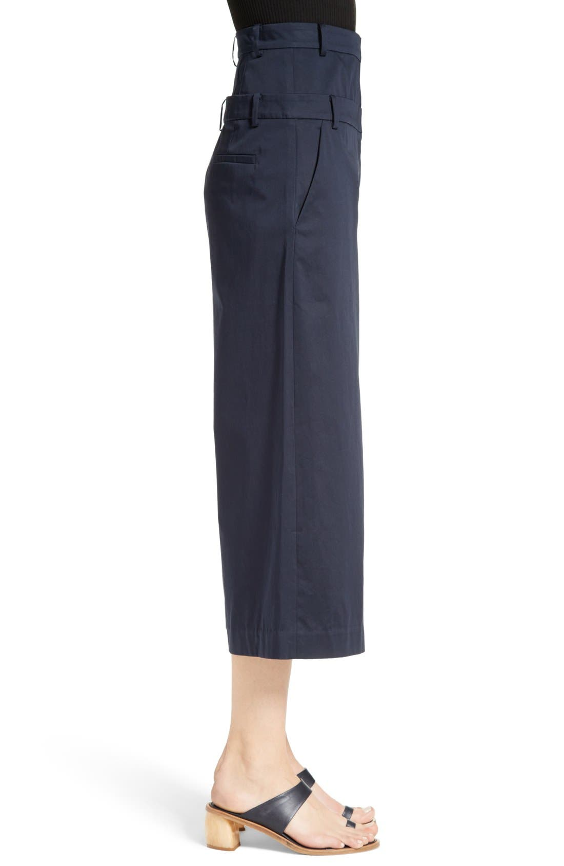 Alternate Image 4  - Tibi Mila Satin Double Waist Crop Pants