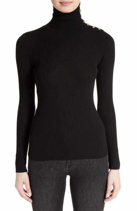 Burberry Beavly Merino Wool Turtleneck Sweater