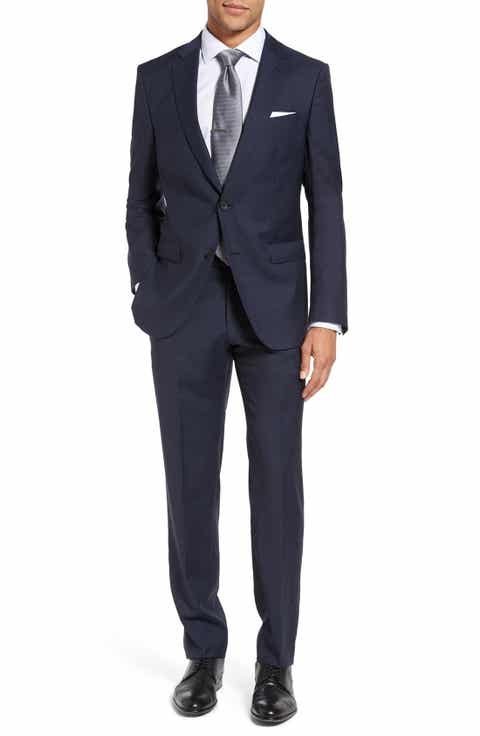 BOSS Nova/Ben Trim Fit Solid Wool Suit