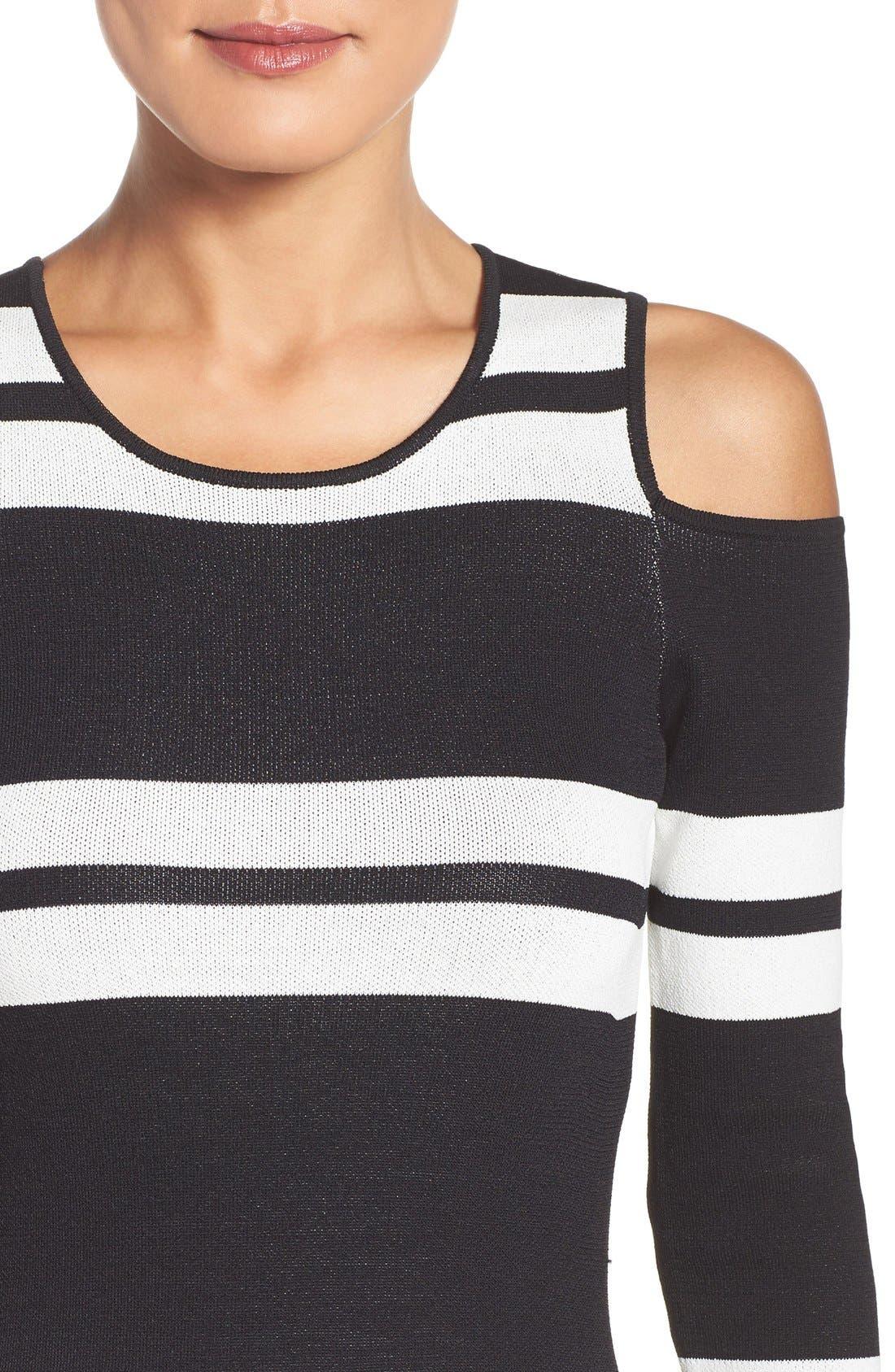 Alternate Image 4  - Eliza J Stripe Midi Dress (Regular & Petite)