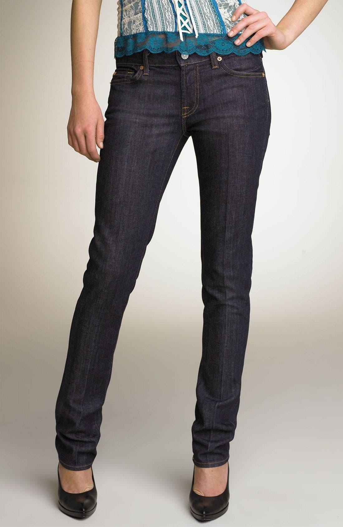 Alternate Image 2  - 7 For All Mankind® 'Roxanne' Skinny Stretch Jeans (Mercer Wash)