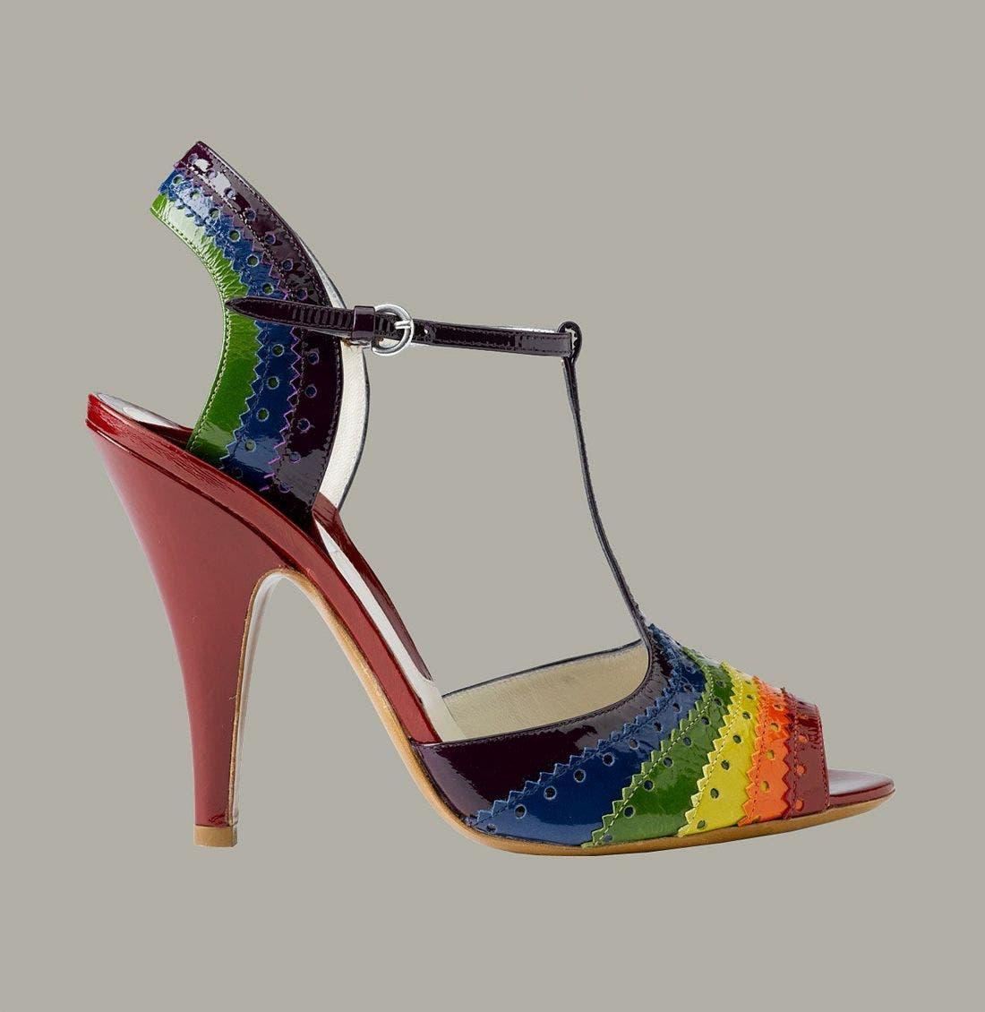 Alternate Image 2  - Moschino Rainbow T-Strap Peep Toe Sandal