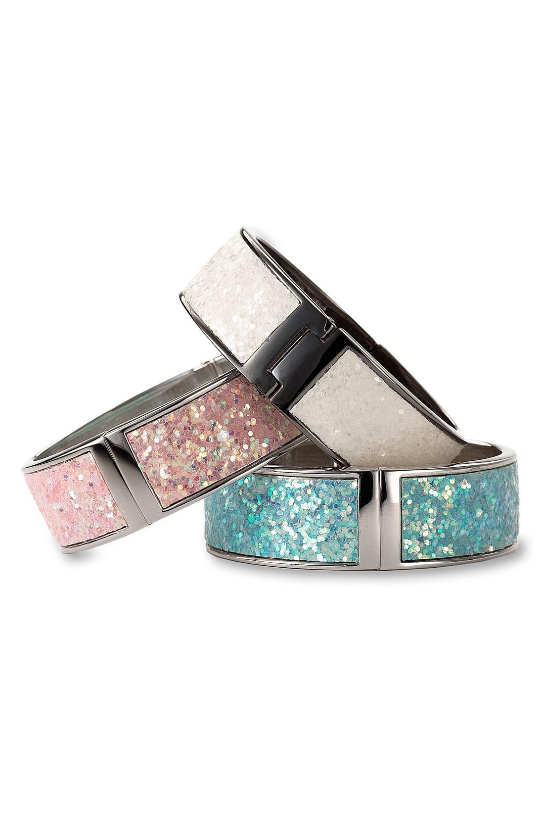 Main Image - Betsey Johnson Sequined Bangle Bracelet