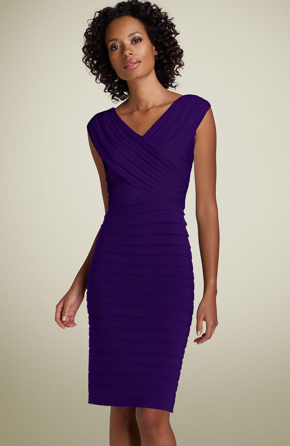 Alternate Image 1  - Adrianna Papell Pleated Sheath Dress