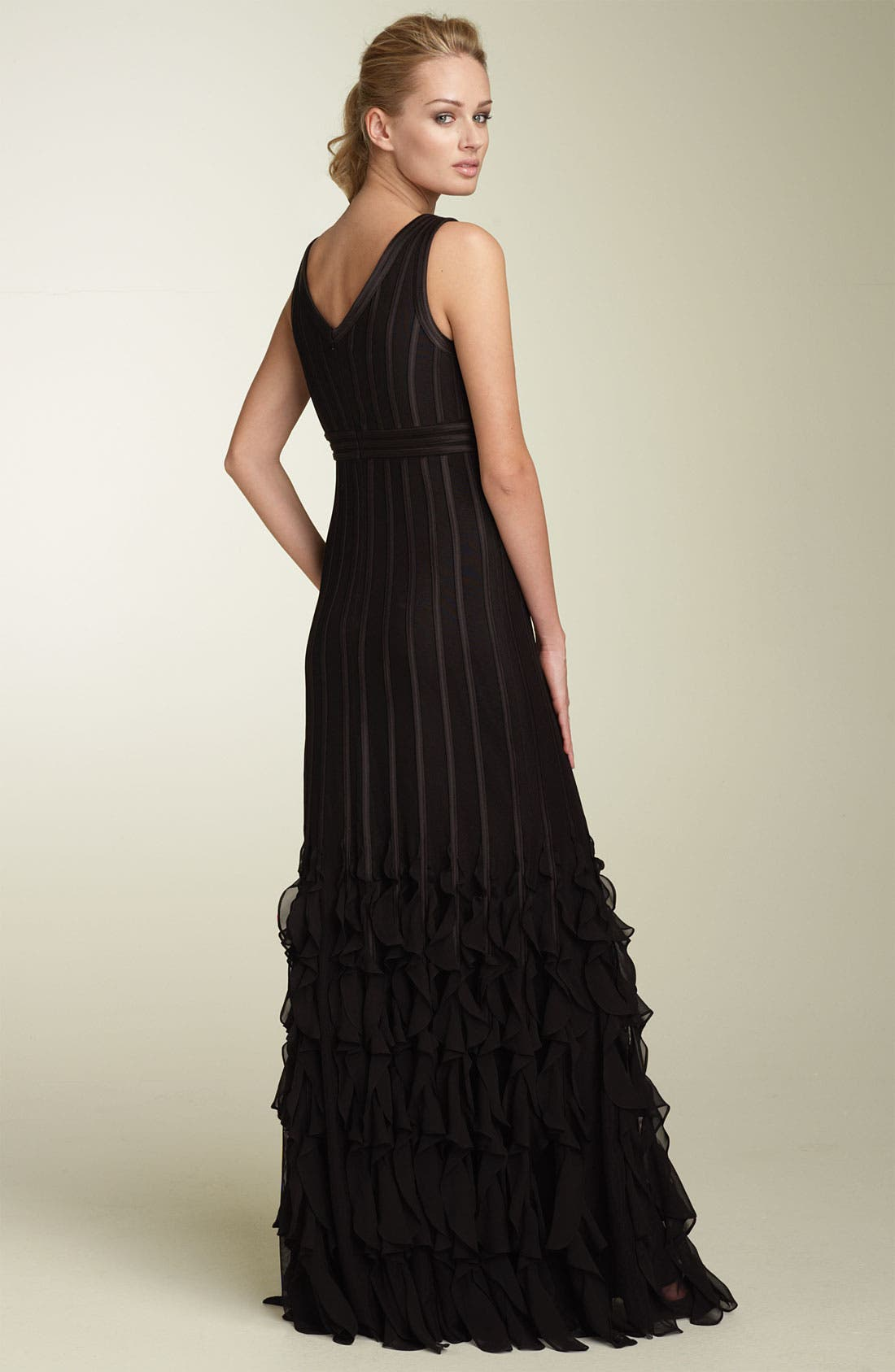 Alternate Image 2  - JS Collections Satin Stripe Gown