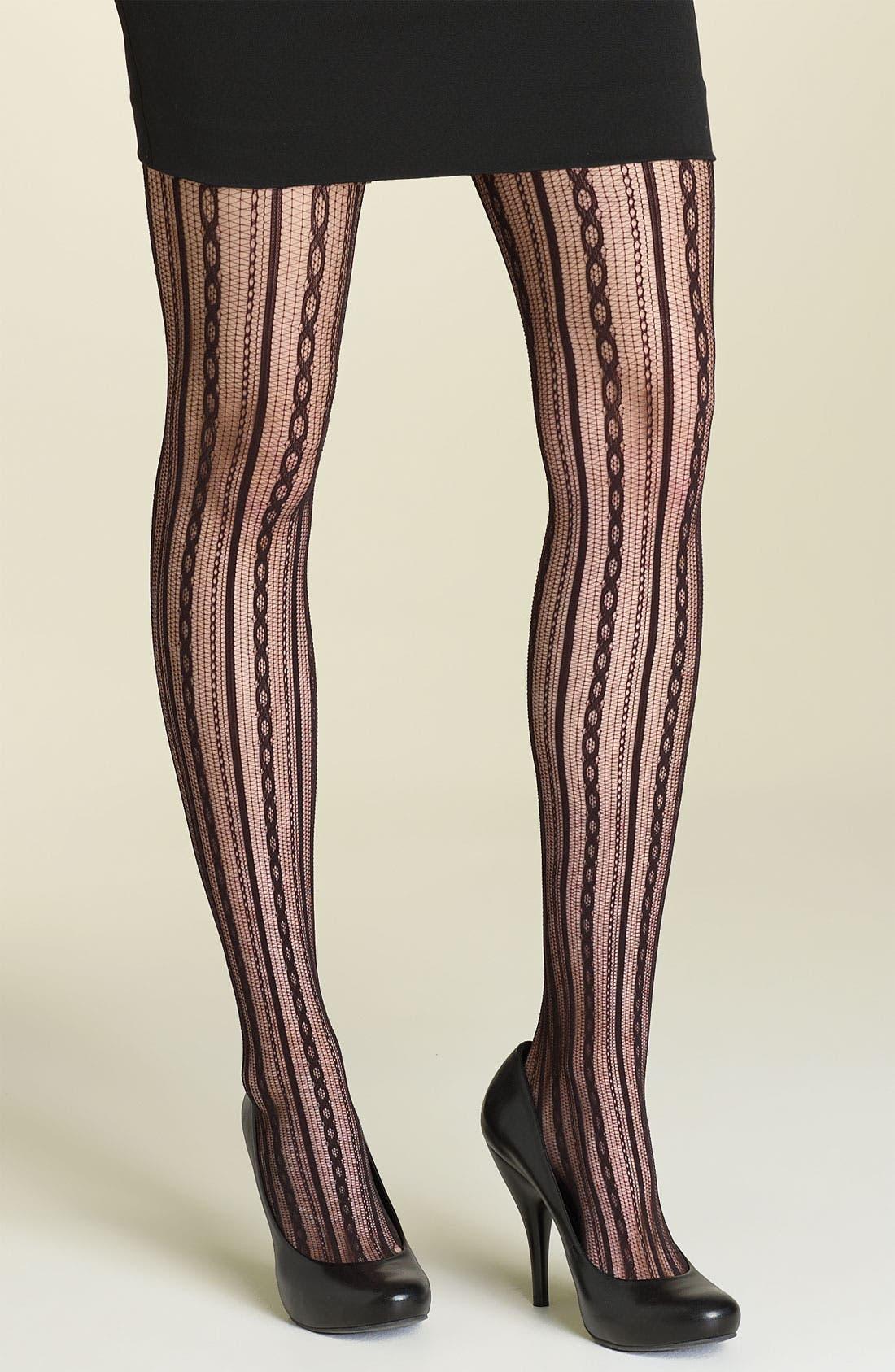 Main Image - SPANX® Chain Stripe Tights