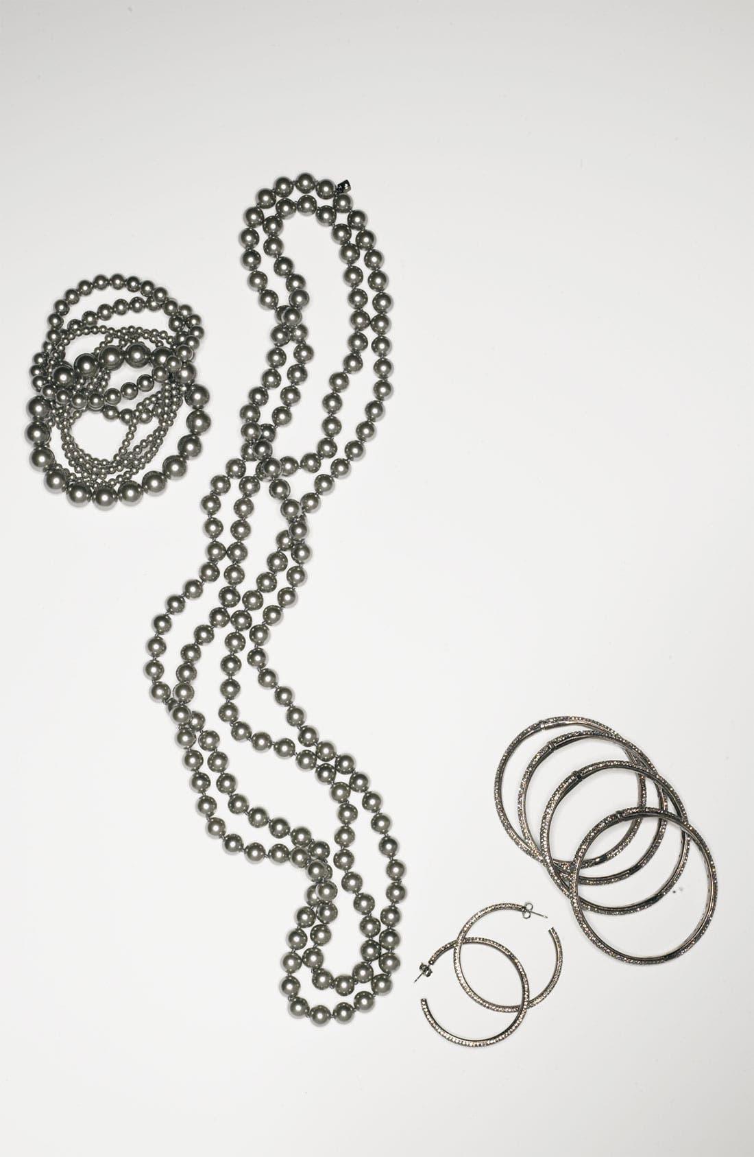 Alternate Image 7  - Nadri Large Pavé Crystal Hoop Earrings