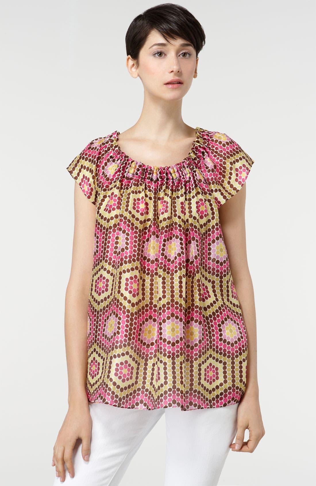 Main Image - Milly Printed Silk Top