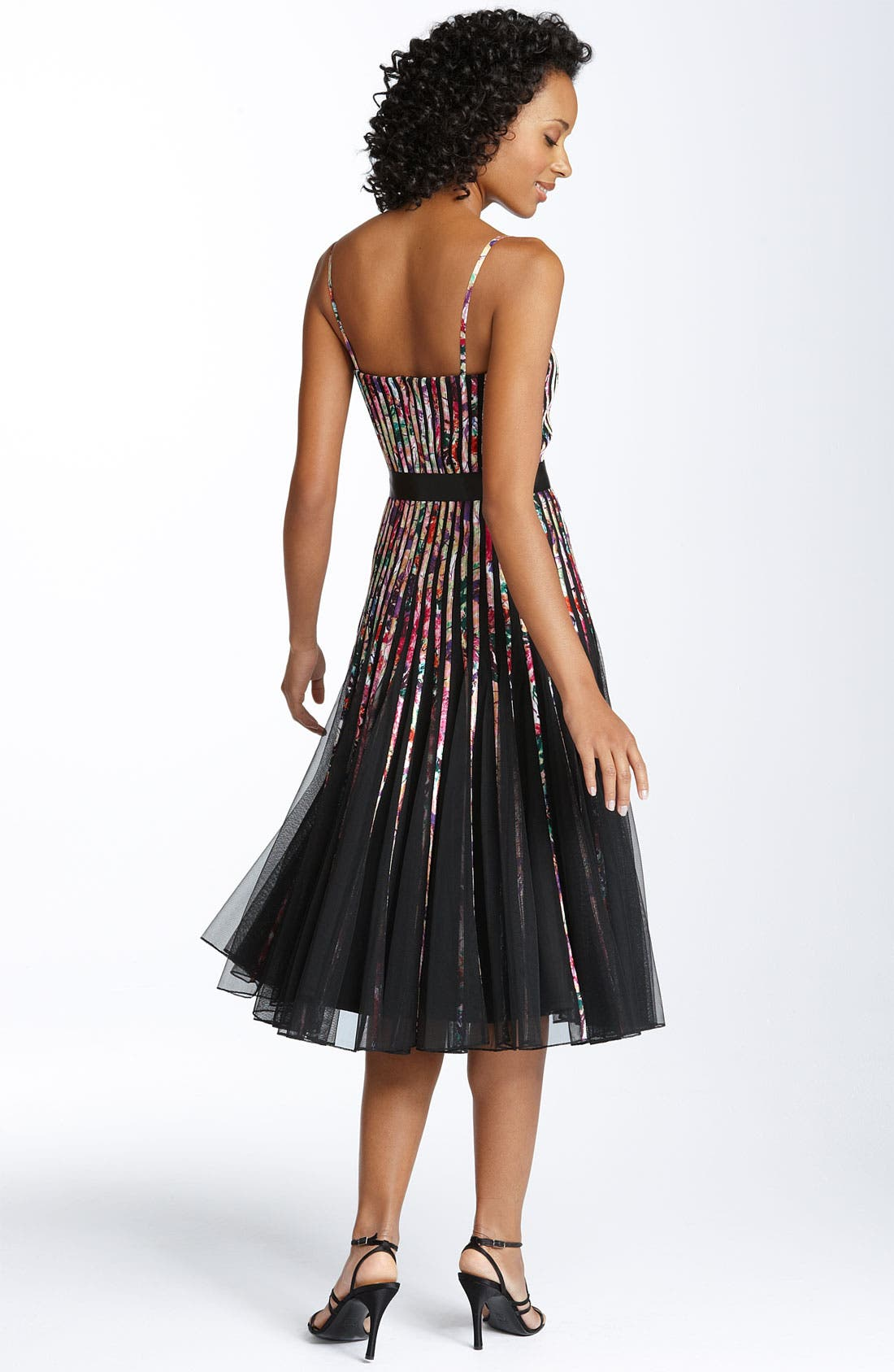 Alternate Image 2  - JS Collections Ribbon Trim Mesh Dress