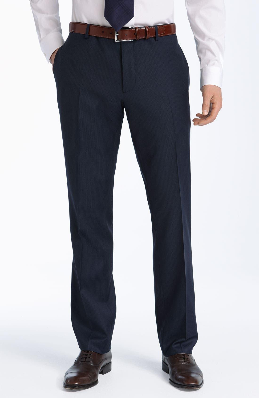 Alternate Image 2  - Burberry London Grey Stripe Virgin Wool Suit