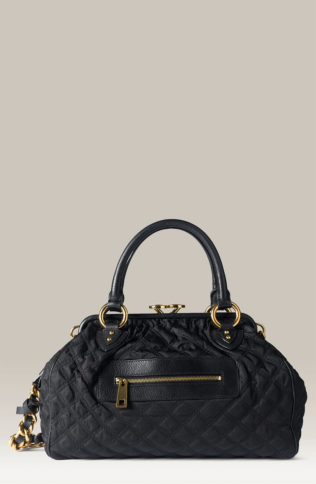 Main Image - MARC JACOBS 'Stam' Quilted Nylon Satchel