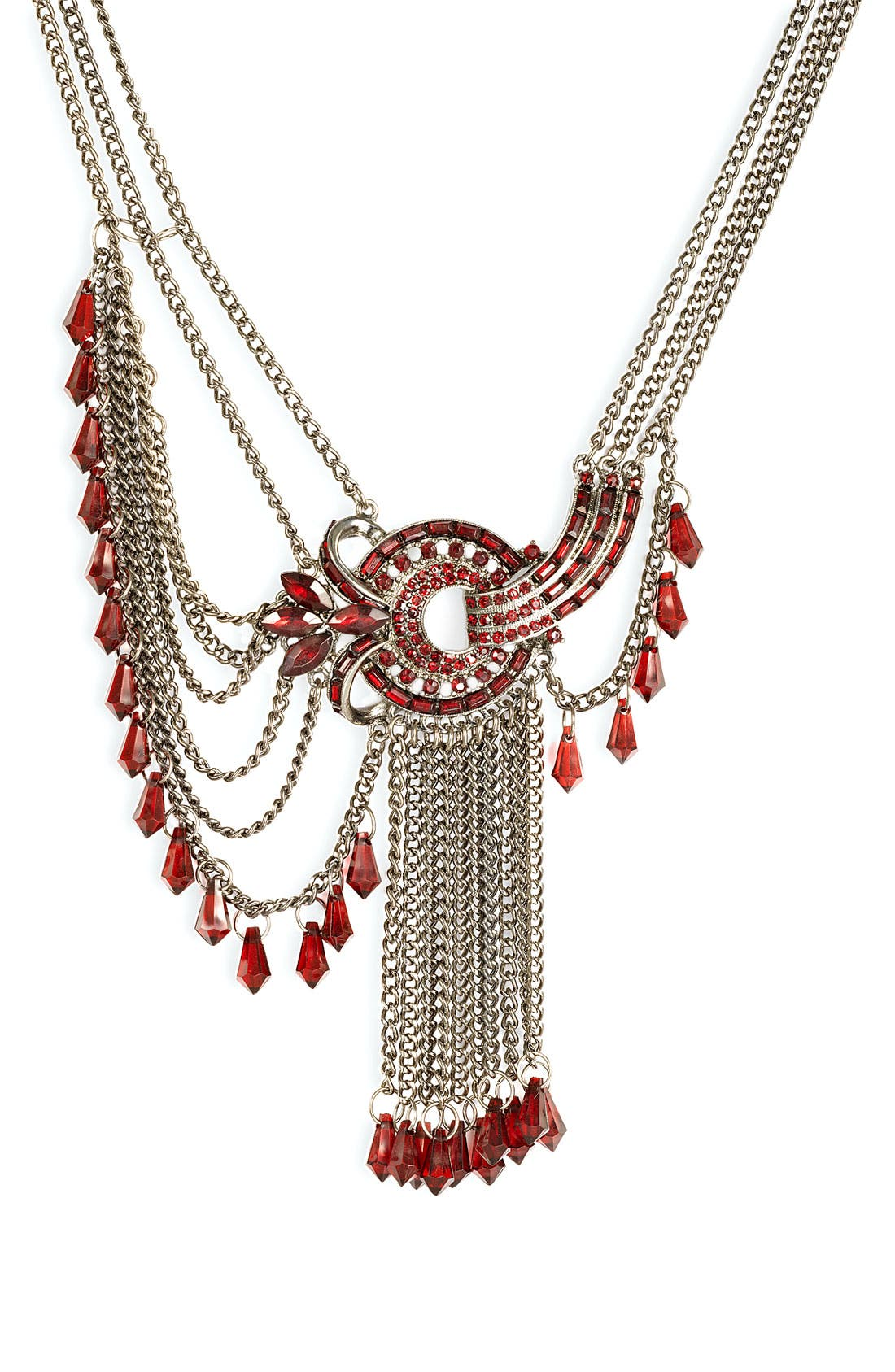 Alternate Image 1 Selected - Jewelry Fashions Multi Chain Statement Necklace