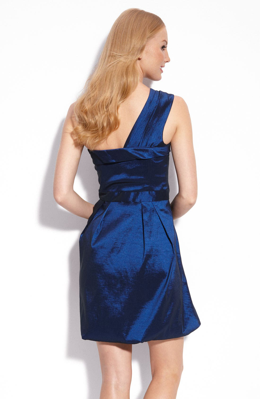 Alternate Image 2  - Max & Cleo One Shoulder Taffeta Dress