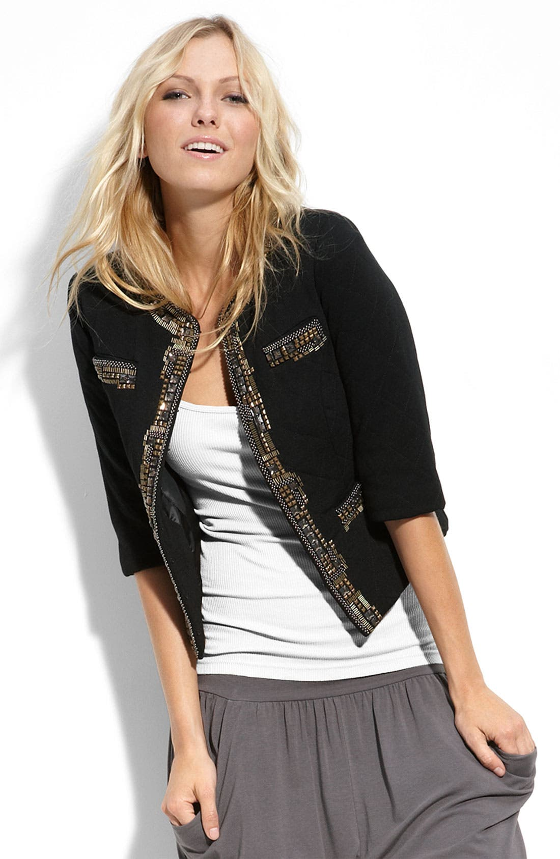 Alternate Image 1 Selected - Bellatrix 'Trophy' Embellished Knit Jacket