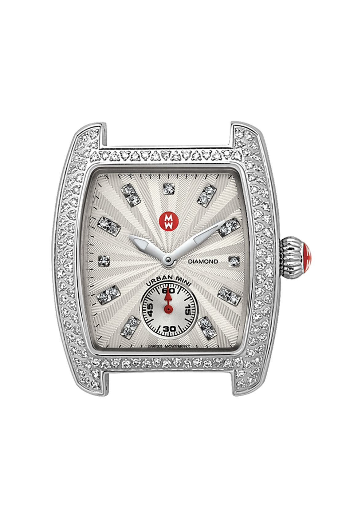 Alternate Image 1 Selected - MICHELE 'Urban Mini Diamond' Diamond Dial Watch Case, 29mm x 30mm