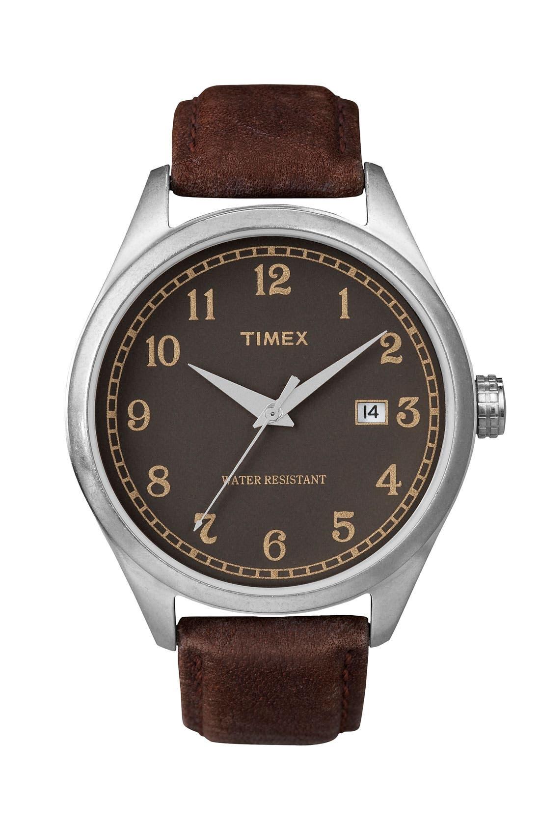 Main Image - Timex® 'Originals - 1900s' Leather Strap Watch