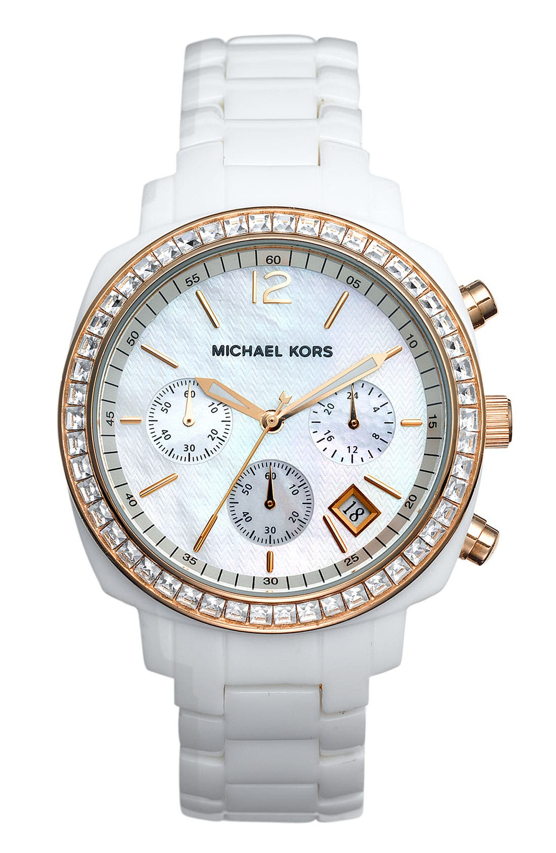 Alternate Image 1 Selected - Michael Kors Ladies' Chronograph Resin Bracelet Watch