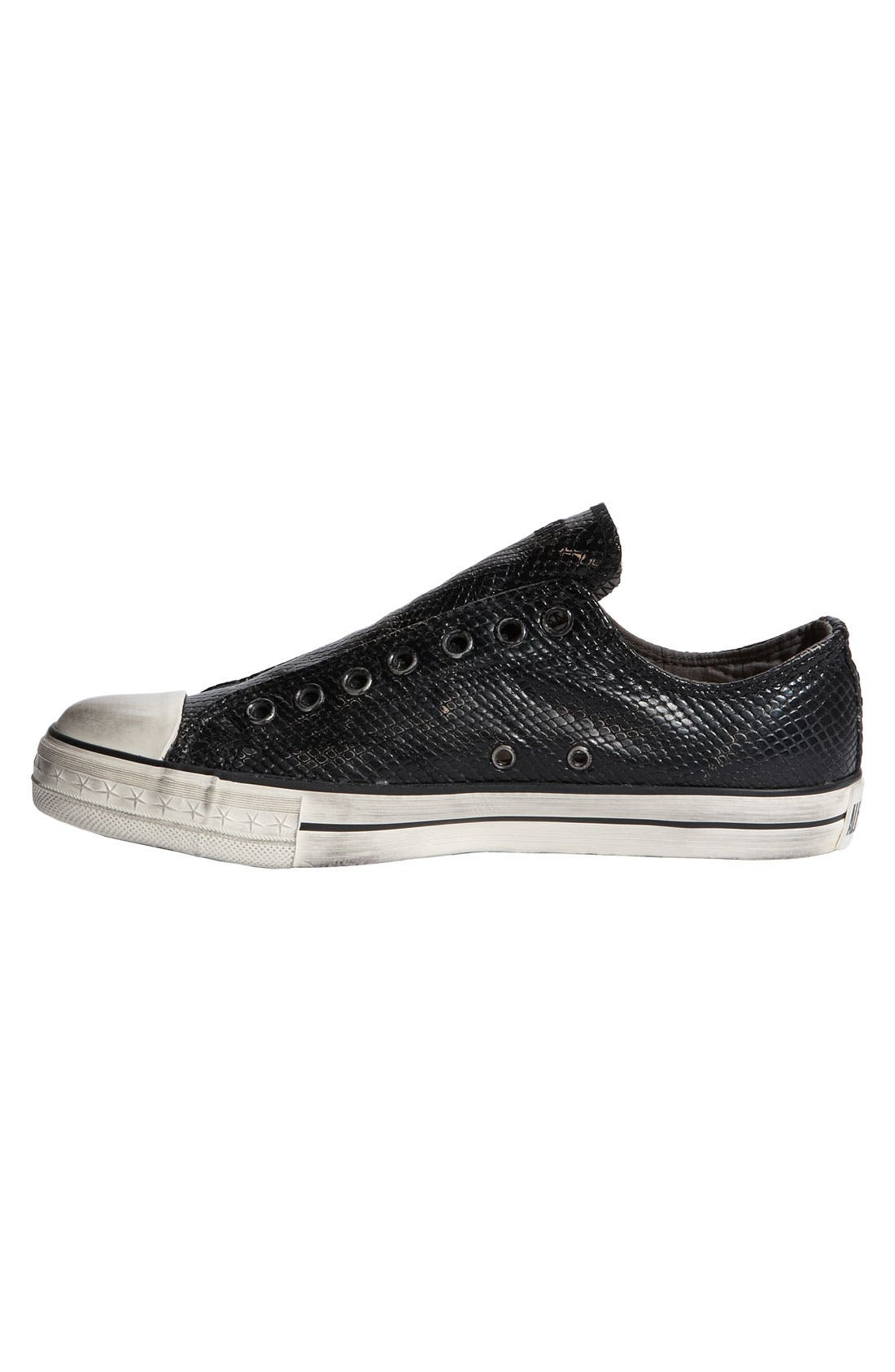 Alternate Image 3  - Converse Chuck Taylor® Textured Leather Slip-On