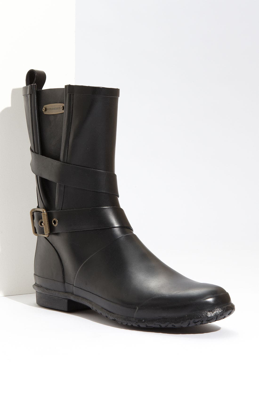 Alternate Image 1 Selected - Burberry Buckled Rain Boot (Women)