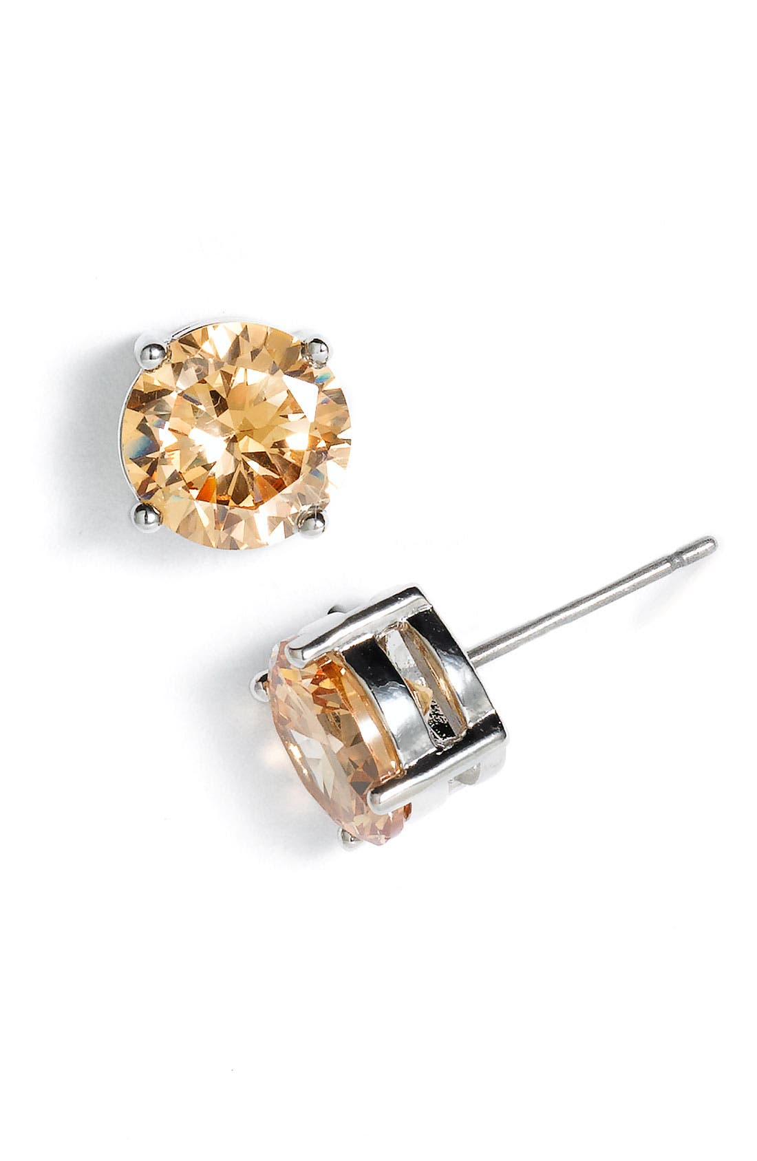 Alternate Image 1 Selected - Rachel Faceted Stud Earrings