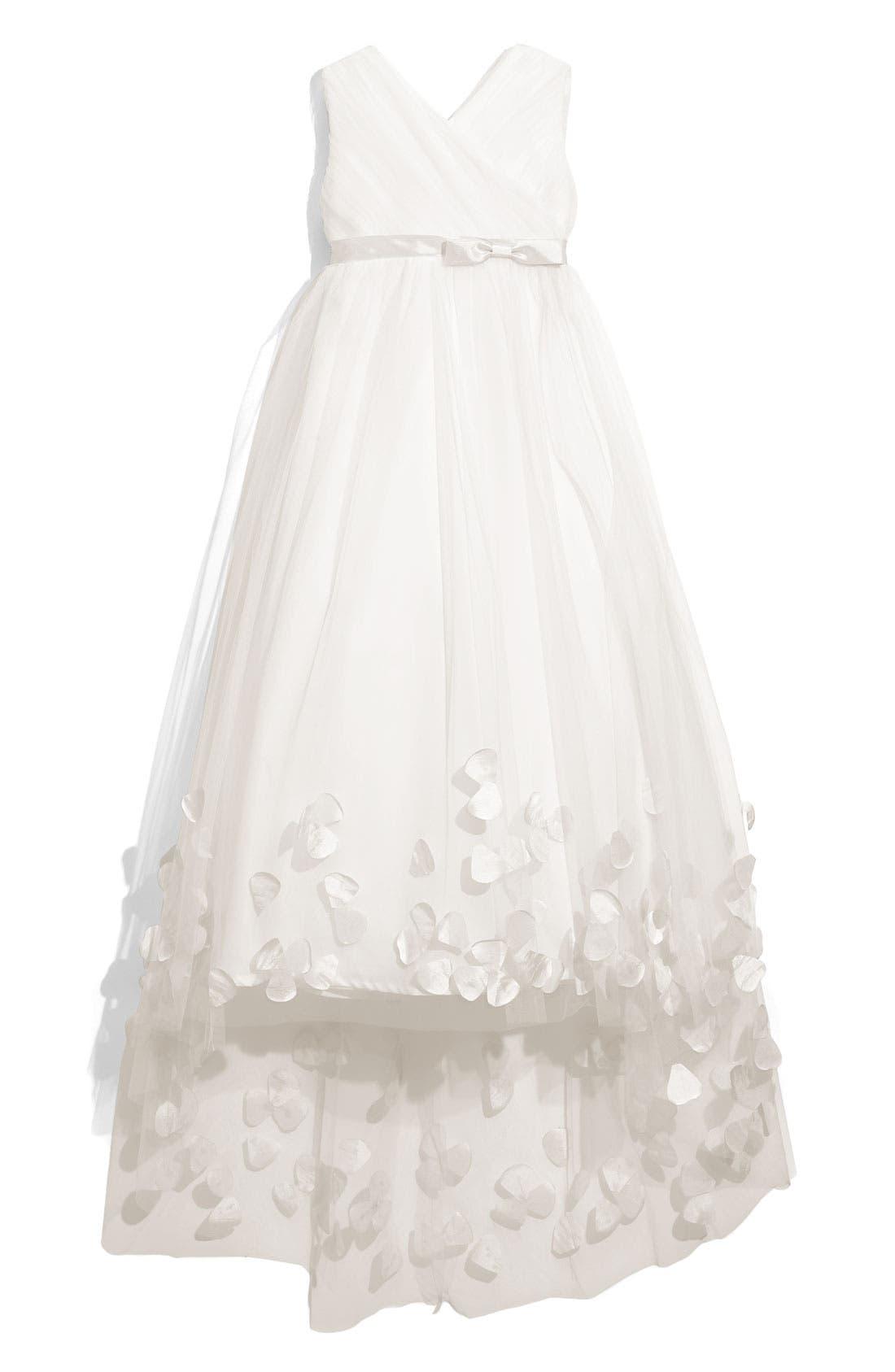 Main Image - Joan Calabrese for Mon Cheri Tulle & Taffeta Floor Length Dress (Little Girls & Big Girls)