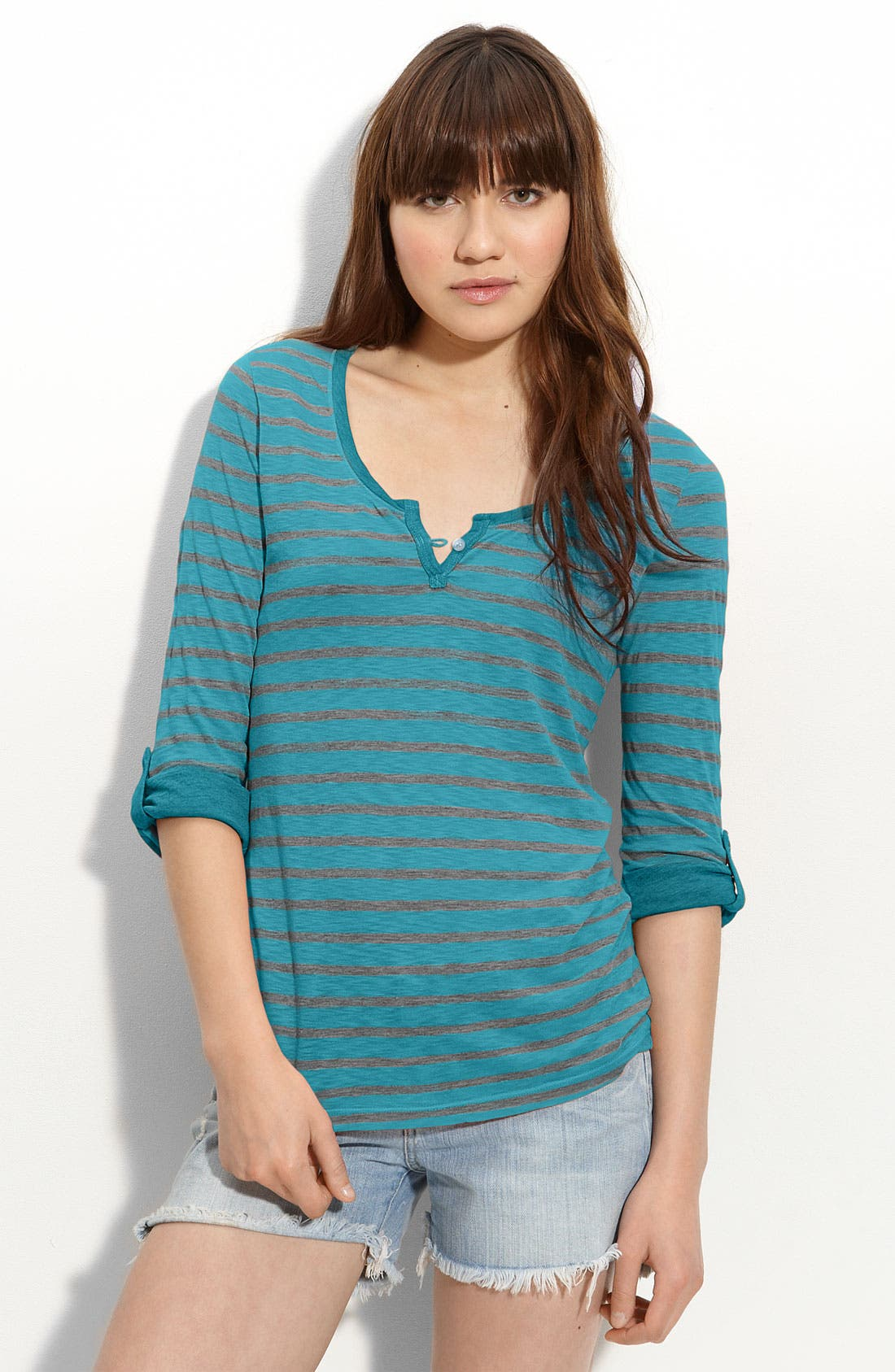Alternate Image 1 Selected - Splendid Stripe Henley (Nordstrom Exclusive)