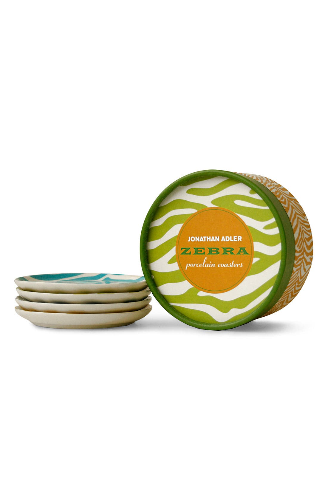 Alternate Image 2  - Jonathan Adler 'Zebra' Porcelain Coasters
