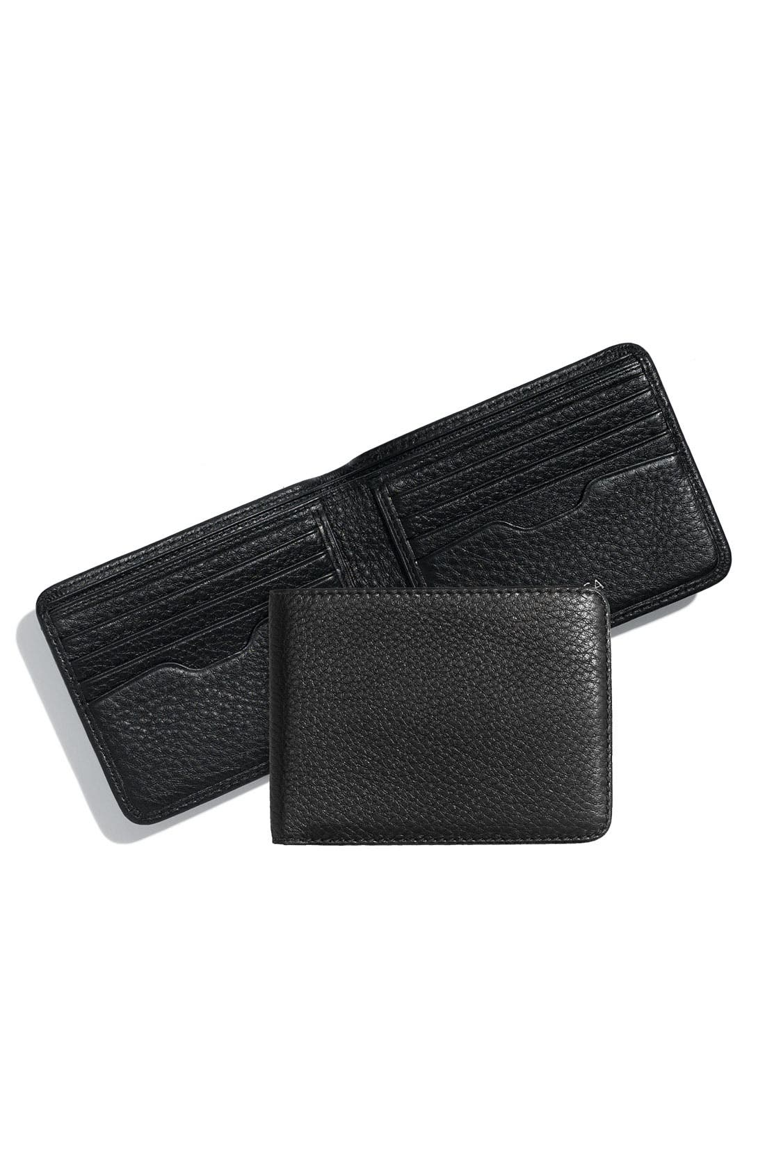 Main Image - Bosca 'Deluxe Executive' Shrunken Leather Wallet