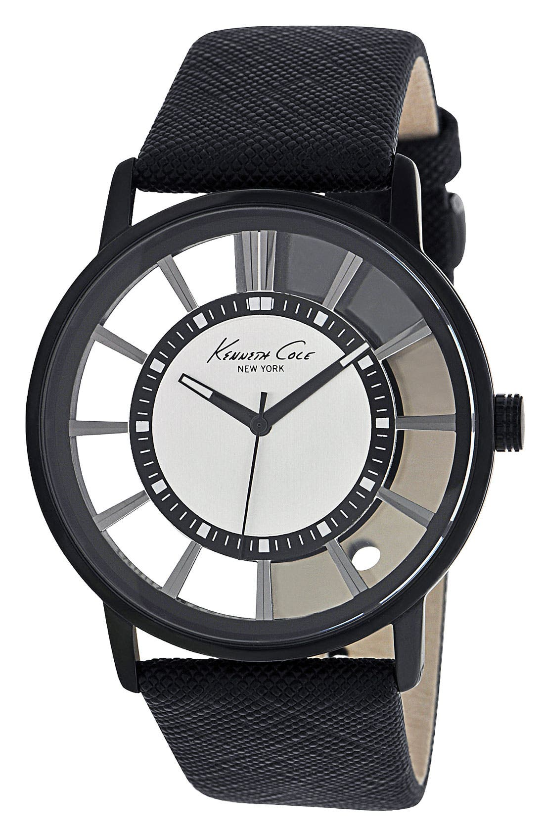 Main Image - Kenneth Cole New York Round Transparent Dial Watch