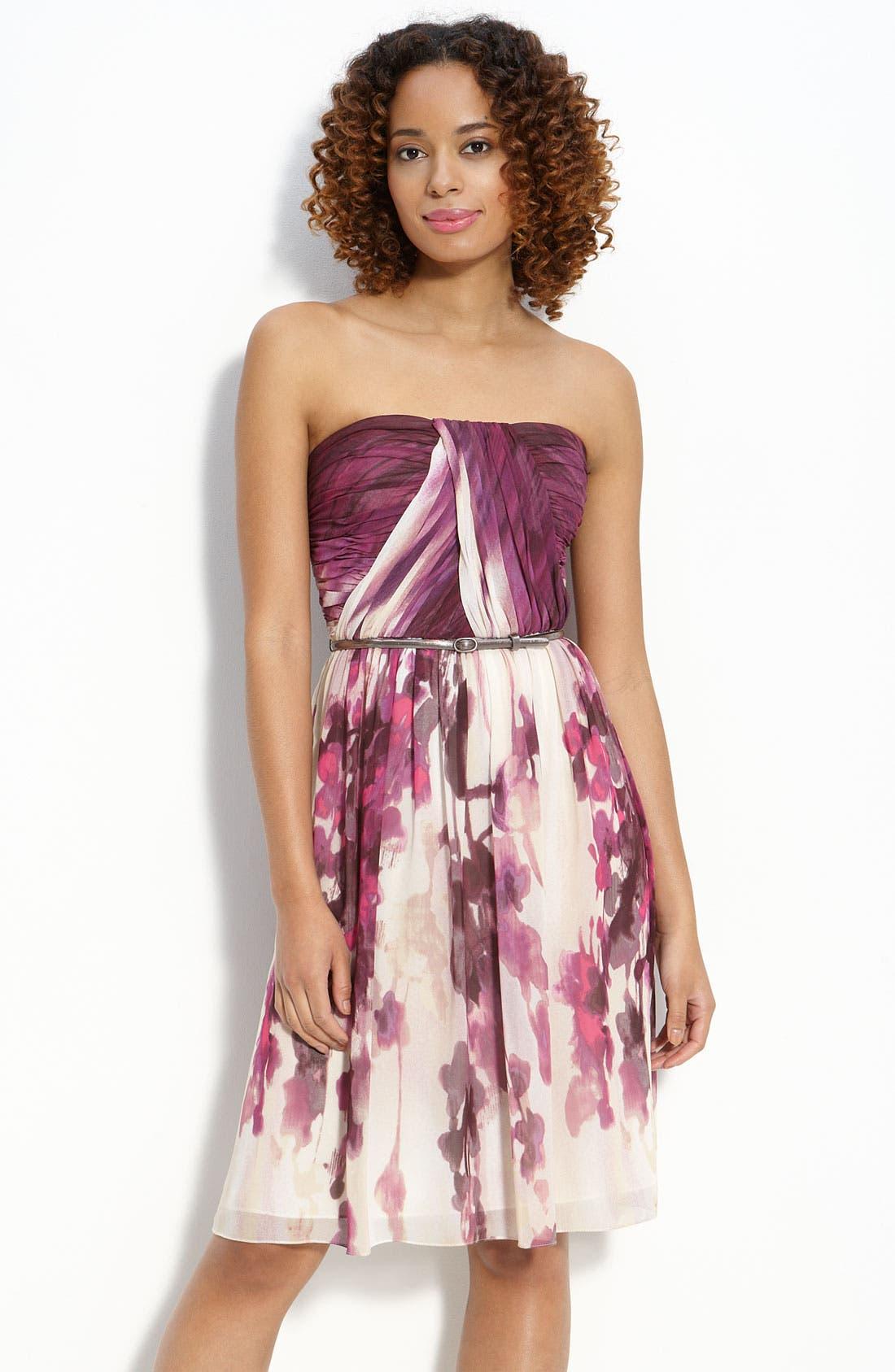 Alternate Image 1 Selected - Donna Morgan Belted Chiffon Dress