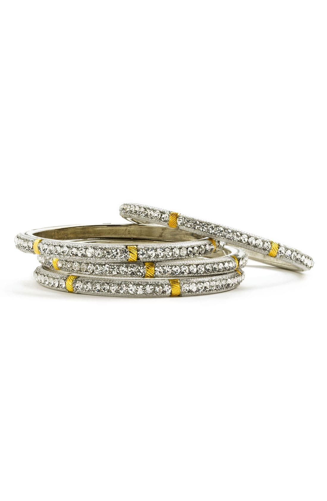 Main Image - Chamak by Priya Kakkar Crystal Bangles (Set of 4)