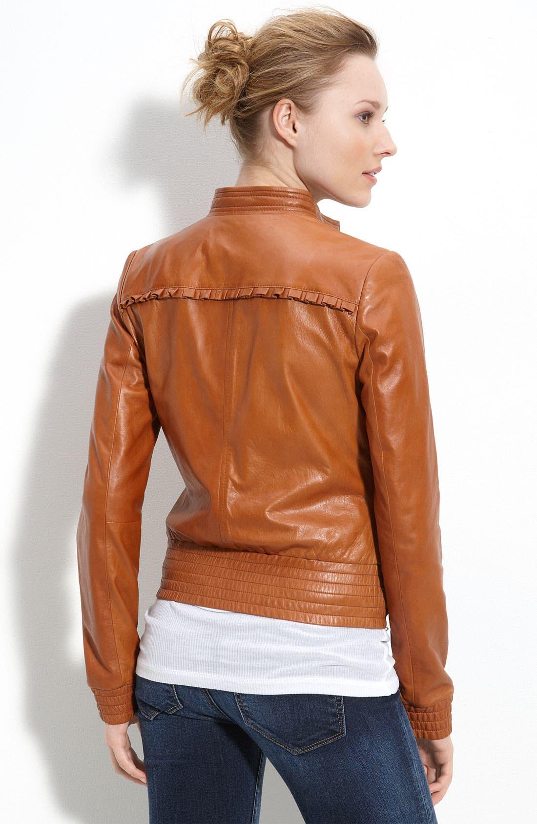 Alternate Image 2  - Hinge® 'Boho' Leather Jacket